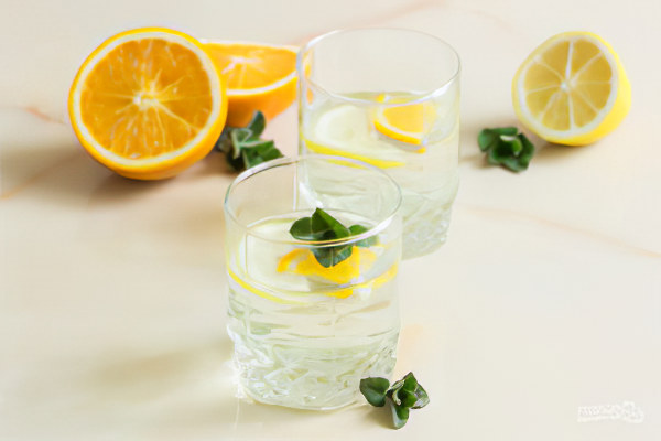 Jugo de abedul con limón